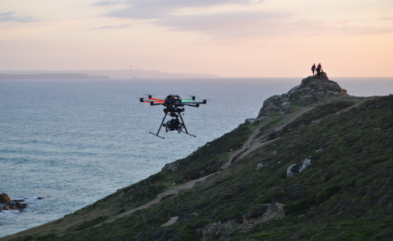 SKYJIB 8HL Drone on location North Coast Cornwall
